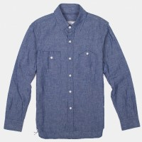 3Sixteen_Categories_Casual Button-Down Shirts_Images_Long Sleeve Workshirt Blue Chambray 4.14.15