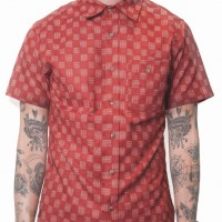 3Sixteen_Categories_Casual Button-Down Shirts_Images_Short Sleeve Workshirt Red Ise 4.14.15