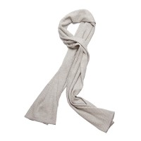 American Trench - Scarves - Cotton Panel Rib Scarf Winter White - 1.19.16