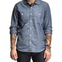 Bluer Denim_Categories_Casual Button-Down Shirts_Images_Chambray Long-Sleeve Work Shirt 2 4.14.15