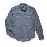 Bluer Denim_Categories_Casual Button-Down Shirts_Images_Chambray Long-Sleeve Work Shirt 4.14.15