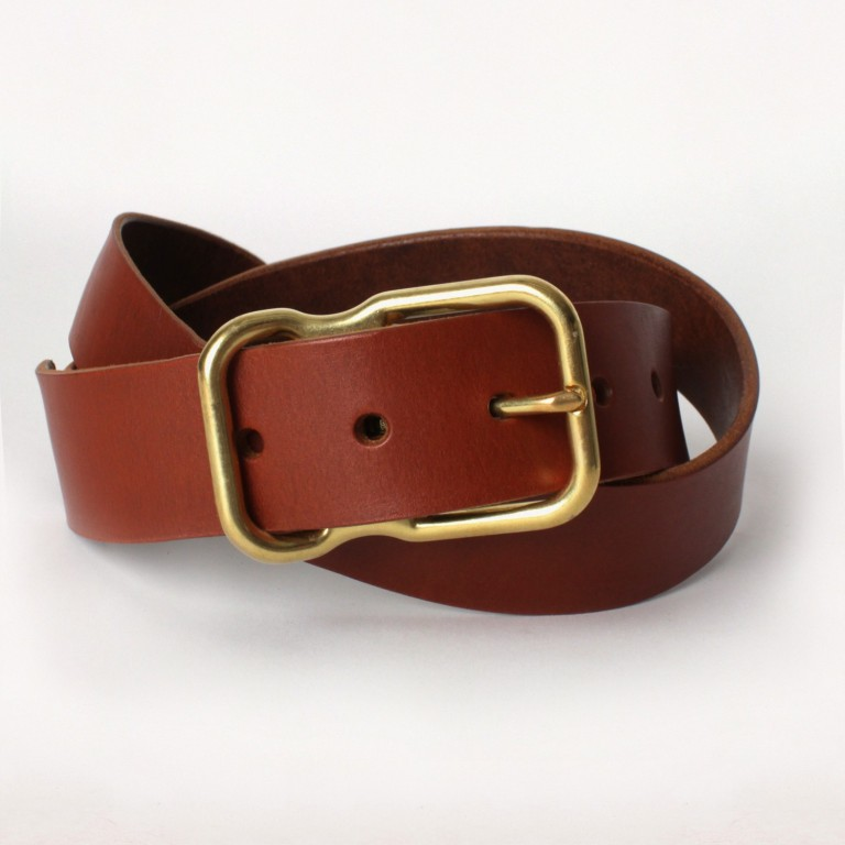 Imogene + Willie - Belts and Suspenders - chestnut emil erwin signature belt2 1.23.16