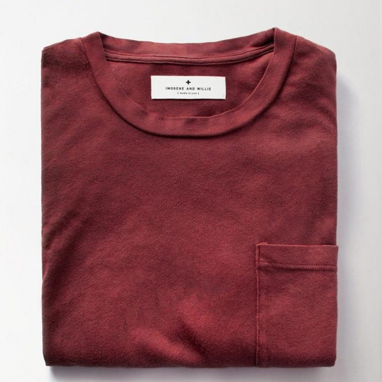 Imogene + Willie - T-Shirts - Crimson Knit Pocket Tee 1.22.16