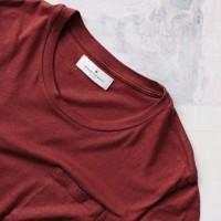 Imogene + Willie - T-Shirts - Crimson Knit Pocket Tee 4 1.22.16