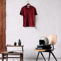 Imogene + Willie - T-Shirts - Crimson Knit Pocket Tee2 1.22.16