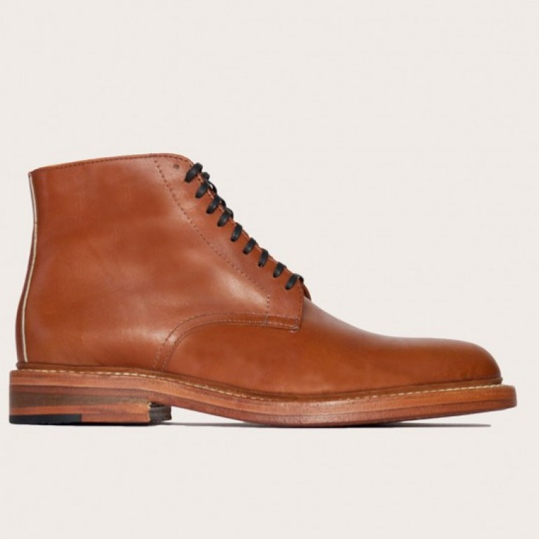 Oak Street Bootmakers - Boots - Cognac Double Sole Lakeshore Boot 1.26.16
