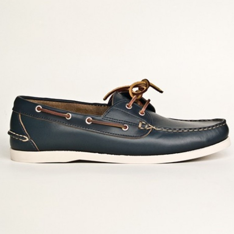 Oak Street Bootmakers - Casual Shoes - Navy Boat Shoe 1.26.15