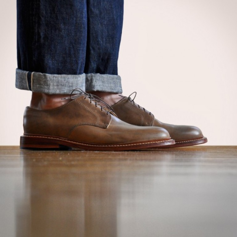 Oak Street Bootmakers - Dress Shoes - Natural Plain Toe Bucher 1.26.16