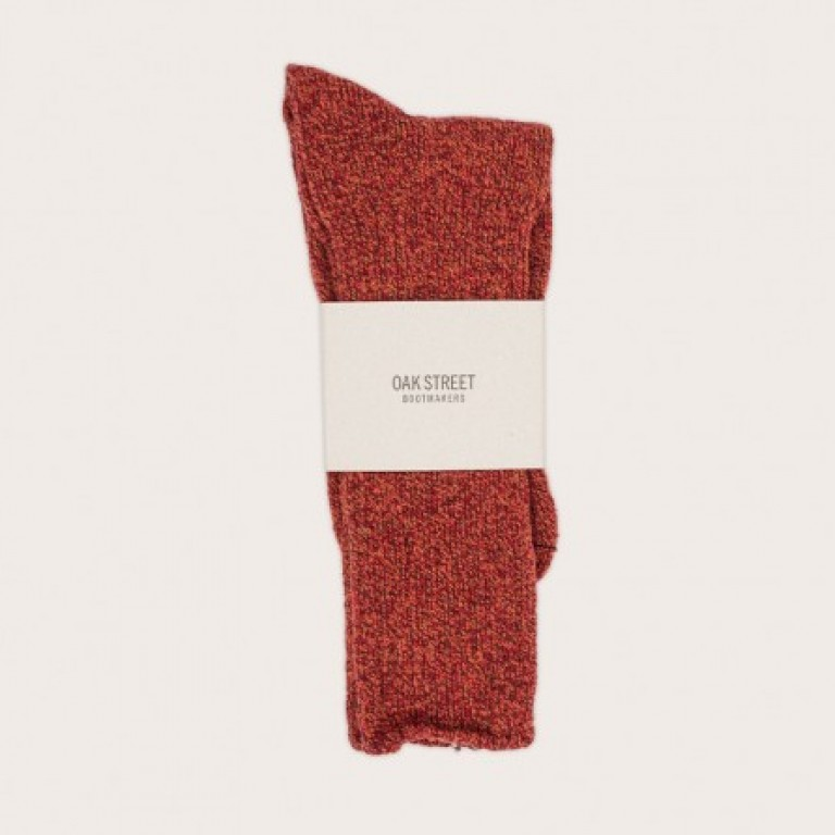Oak Street Bootmakers - Underwear and Socks - Burnt Red Trail Sock 1.26.16