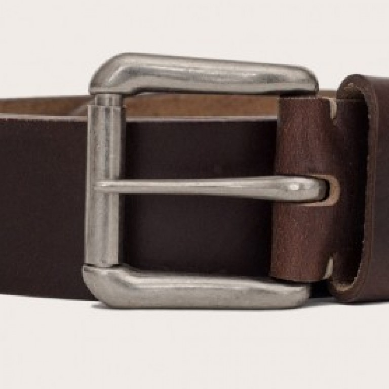 Oak Street Bootmakers_Categories_Belts and Suspenders_Images_brown roller buckle belt 4.19.15