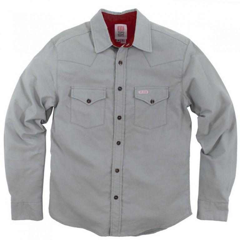 Topo Designs - Casual Button-Down Shirts - Mountain Shirt - Flannel - Gray