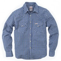 Topo Designs - Casual Button-Down Shirts - Western Shirt - Gingham - Blue