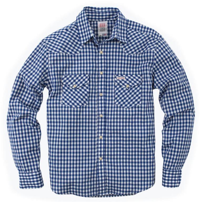 Topo Designs - Casual Button-Down Shirts - Western Shirt - Gingham - Blue