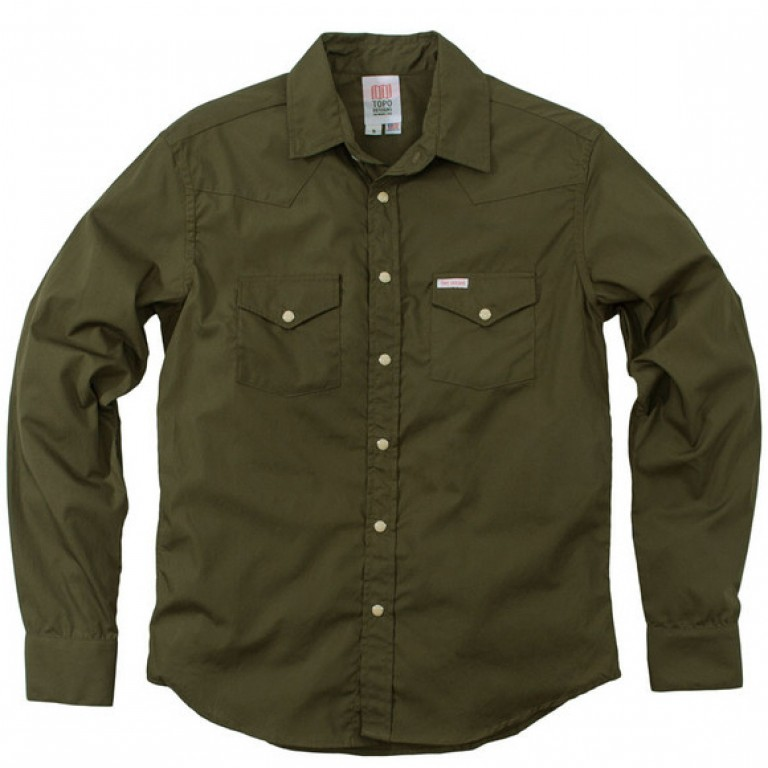 Topo Designs - Casual Button-Down Shirts - Western Shirt Olive