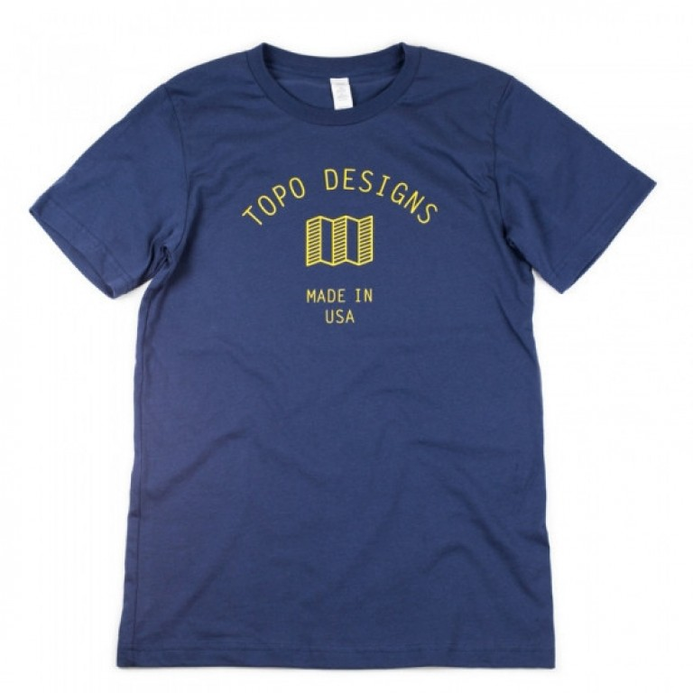 Topo Designs - T-Shirts - Mini Map Tee - Blue - 5.18.15