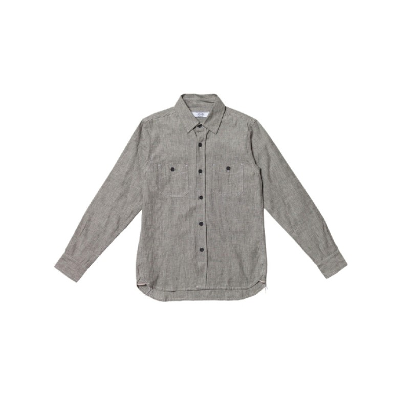 3sixteen - Casual Button-Down Shirts - Selvedge Chambray Workshirt - Grey Salt & Pepper
