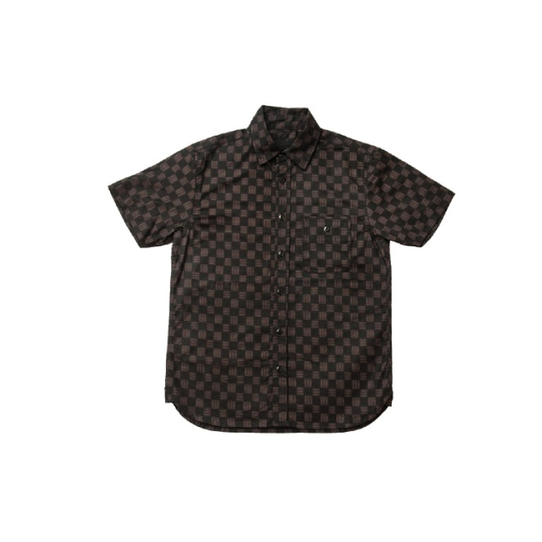 3sixteen - Casual Button-Down Shirts - Short Sleeve Workshirt Black Ise