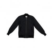 3sixteen - Coats and Jackets - Stadium Jacket Black Waxed Canvas