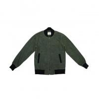 3sixteen - Coats and Jackets - Stadium Jacket Olive Waxed Canvas
