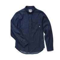 Almond Surfboards - Casual Button-Down Shirts - Surf + Craft Woven Dark Denim