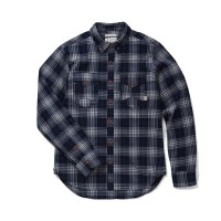 Almond Surfboards - Casual Button-Down Shirts - Surf + Craft Woven Navy Plaid