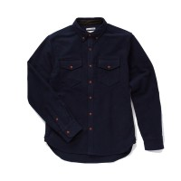 Almond Surfboards - Casual Button-Down Shirts - Survey Chamois Shirt-Jacket Navy