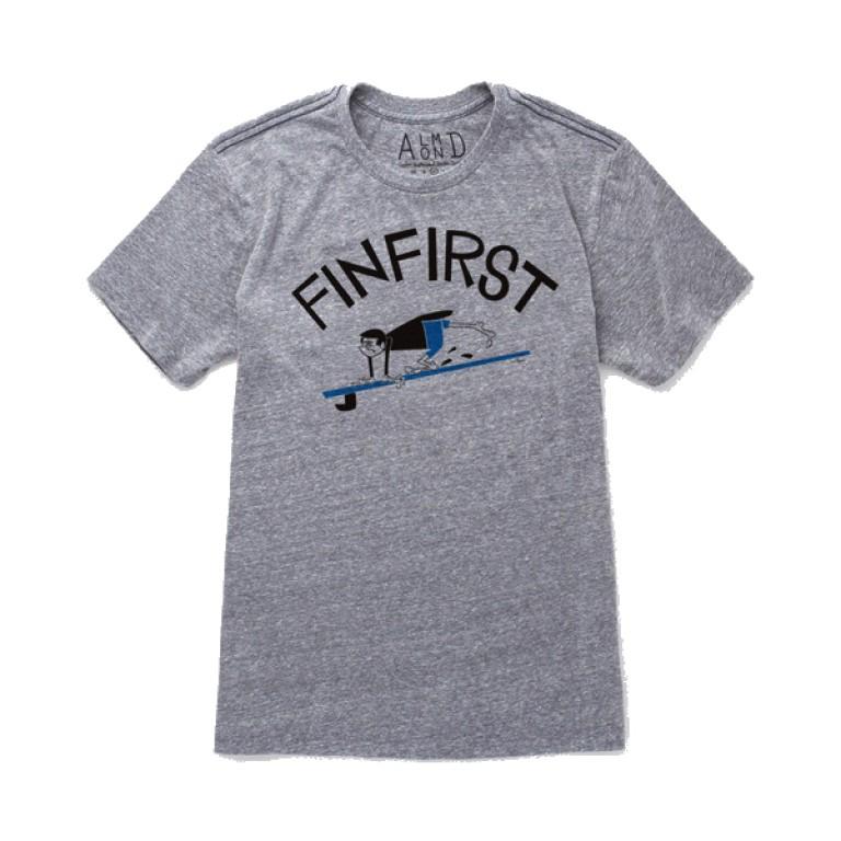 Almond Surfboards - T-Shirts - Fin First T-Shirt Blue