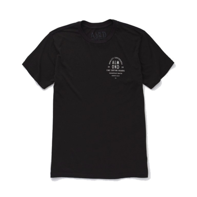 Almond Surfboards - T-Shirts - Info Stack T-Shirt Charcoal