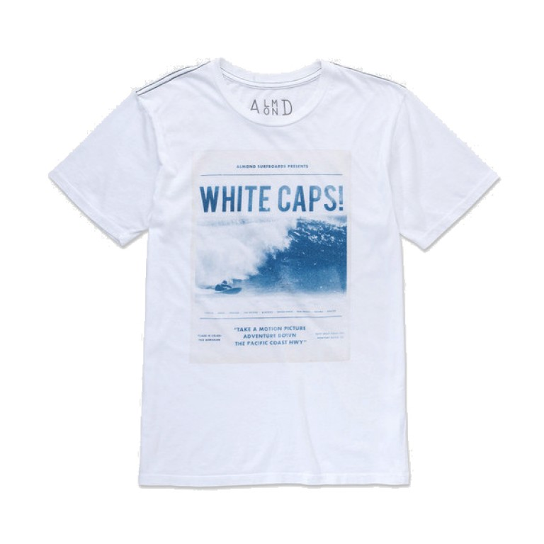Almond Surfboards - T-Shirts - Surf Premier T-Shirt White
