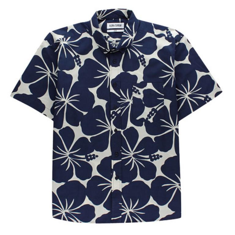 Aloha Sunday - Casual Button-Down Shirts - Kali Indigo