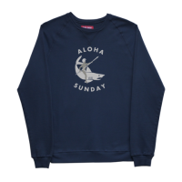 Aloha Sunday - Sweatshirts - Shark Rider Sweatshirt Navy