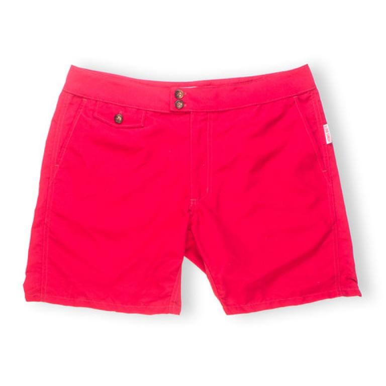 Aloha Sunday - Swimwear - Lanikai 16in True Red Swim Shorts