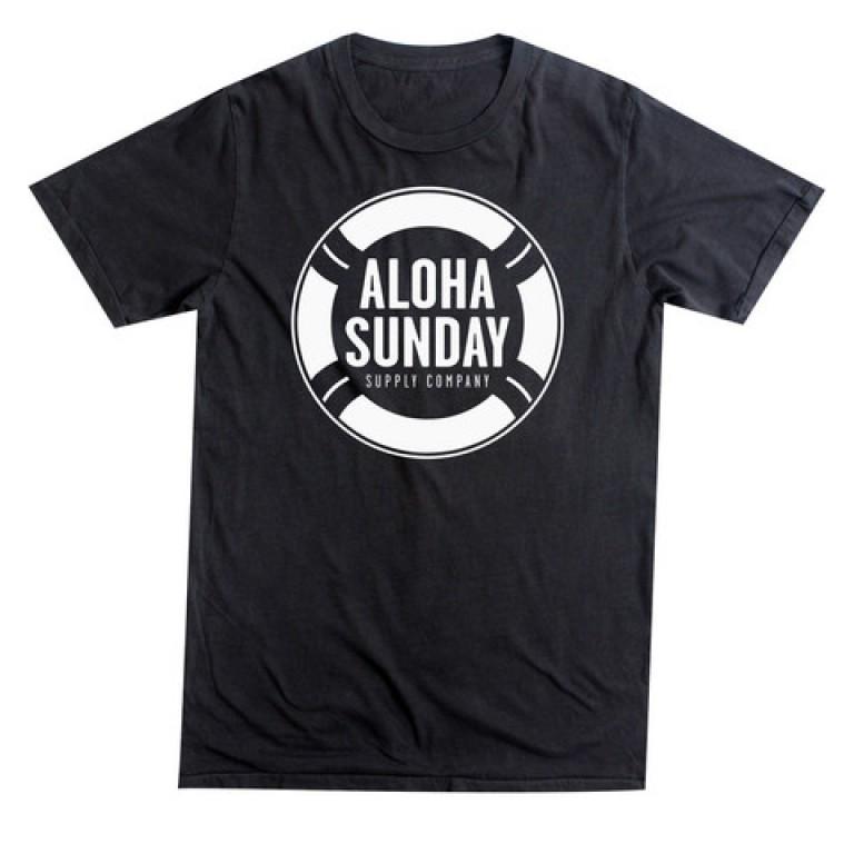 Aloha Sunday - T-Shirts - Lifesaver Black