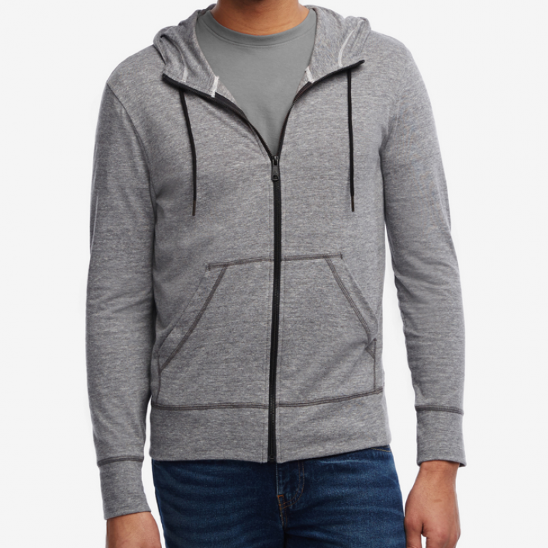 American Giant - Sweatshirts - Light Weight Full Zip Chrome Heather