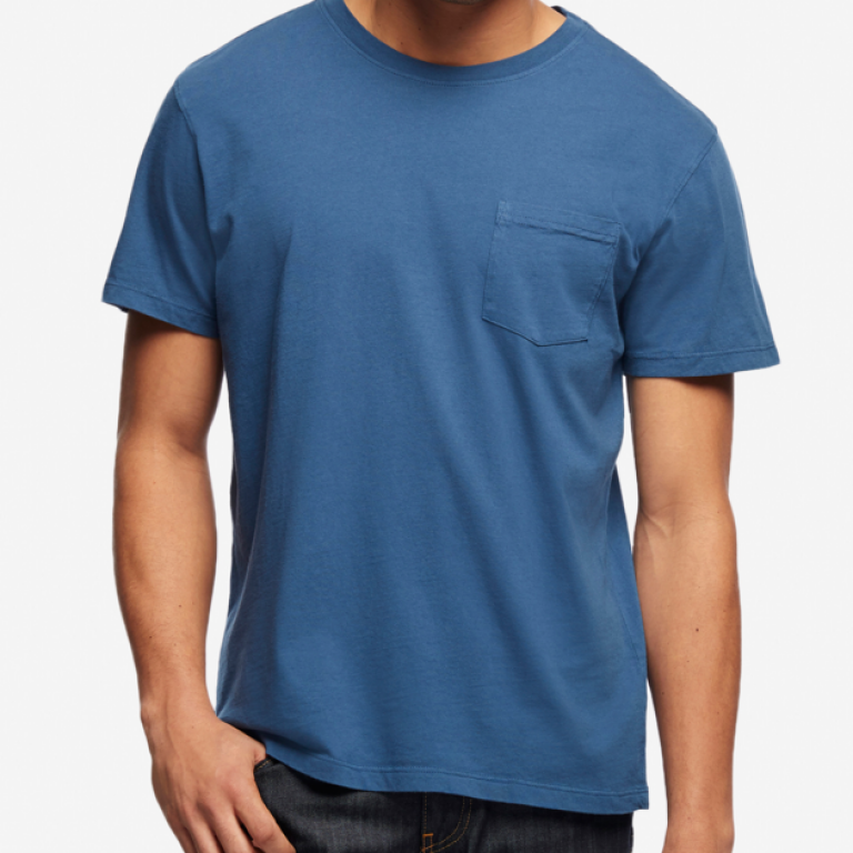 American Giant - T-Shirts - Essential Pocket T Dusk Blue