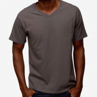 American Giant - T-Shirts - Essential V-Neck T Phantom Grey