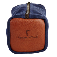 Ball and Buck - Bags and Wallets - Waxed-Canvas-Dopp-Kit-Signature-Leather-Navy