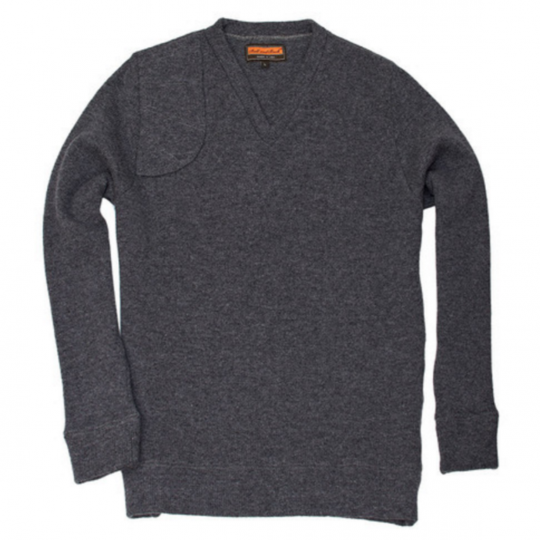 Ball and Buck - Sweaters -The-Merino-V-Neck-Pullover-Charcoal