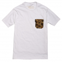 Ball and Buck - T-Shirts - The-5oz-Pocket-Tee-White-Signature-Camo