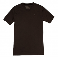 Ball and Buck - T-Shirts - The-5oz-V-Neck-Roger-Tee-Brown