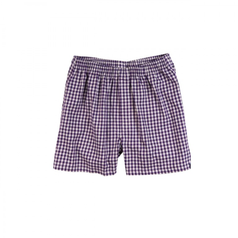 Bills Khakis - Underwear and Socks - Bills Boxers Grape Heathered Gingham