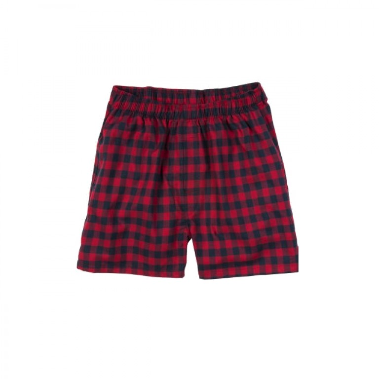 Bills Khakis - Underwear and Socks - Bills Boxers Red Navy Check