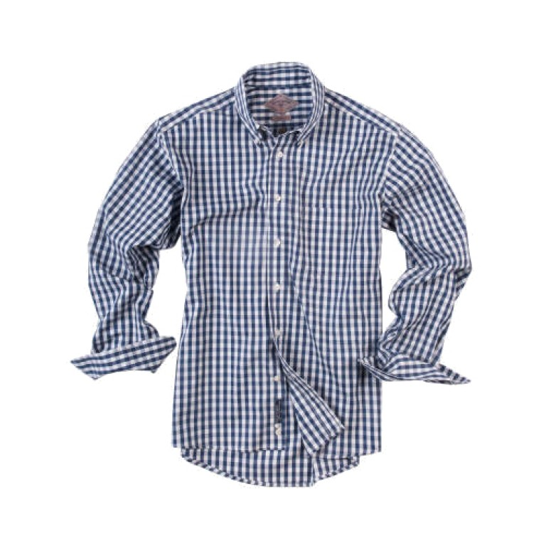 Bills Khakis_Categories_Casual Button-Down Shirts_Images_Pinpoint Gingham Navy 4.26.15