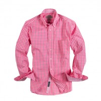 Bills Khakis_Categories_Casual Button-Down Shirts_Images_Washed Windowpane Coral 4.26.15