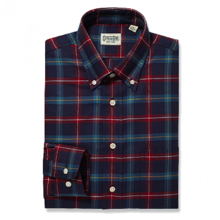 Gitman Bros - Casual Button-Down Shirts - Button Down Teal Jumbo Plaid