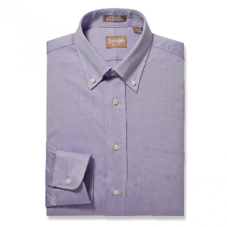Gitman Bros - Dress Shirts - Button Down Pinpoint Lavender