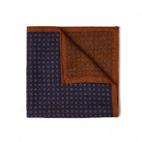 Gitman Bros - Ties and Pocket Squares - Neat Pocket Square Blue