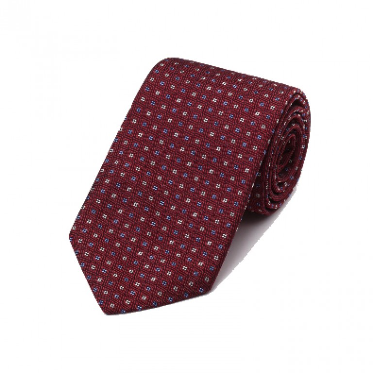 Gitman Bros - Ties and Pocket Squares - Woven Neat Tie Red