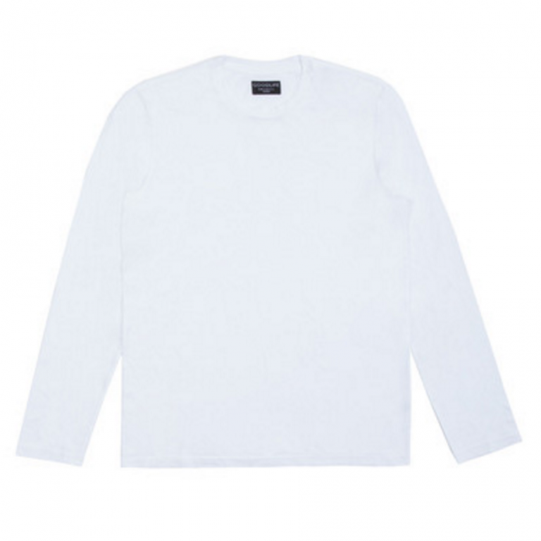 Goodlife - T-Shirts - Core Long Sleeve Crewneck T-Shirt White