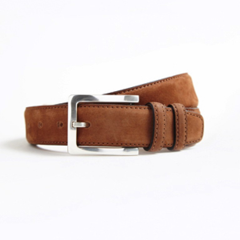 hickey freeman cedar nubuck natural grain leather belt